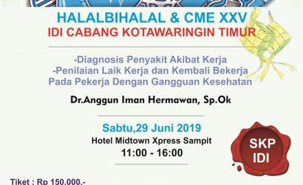 HALALBIHALAL DAN CME XXV IDI CABANG KOTIM